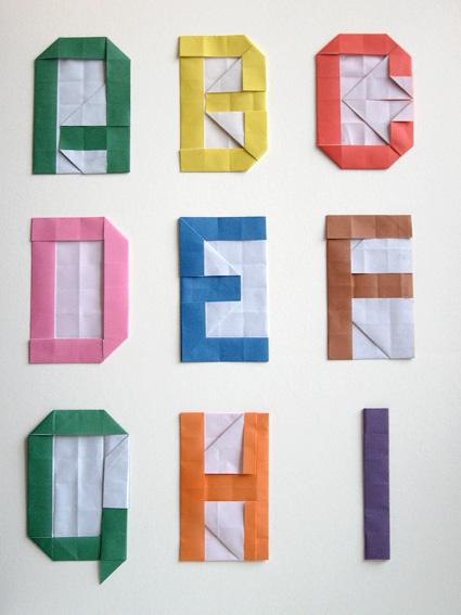 Prototype Origami Alphabet   Quick prototype alphabet folded…   Flickr   567x425