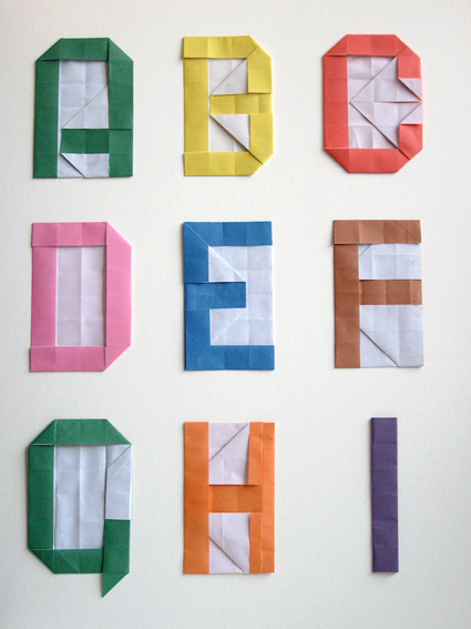 Alphabet Origami Via Atelier Pour Enfants Instructions
